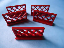 LEGO PART 3185 RED 1 x 4 x 2 FENCE x 5