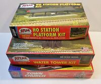 3 Vintage HO 1/87 scale plastic Building Kits