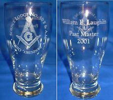 Laser Engraved  Personalized Masonic Pilsners