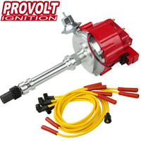 HEI Distributor w/ Spark Plug Wires Ignition Combo Kit for Chevy Small Big Block