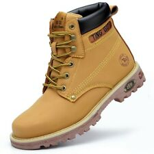 Mens Steel Toe Work Boots Safety Shoes Working Tactical Waterproof Ankle Boots
