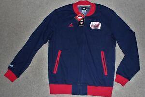$90 NWT Men Sz Large SMU Adidas MLS USA Soccer Revolution Jacket Top Navy Blue