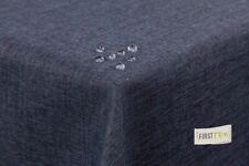 Tischdecke Leinenoptik Lotuseffekt abwaschbar geradr Saumkante 135x180 oval grau