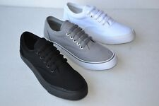 B-H Mens Canvas Low Top Lace Up Sneakers Shoes