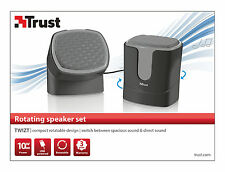 NEW TRUST 19852 TWIZT UNIQUE ROTATABLE DESIGN 10W USB POWERED 2.0 SPEAKER SET