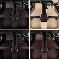 New 3pcs PU Leather Car Floor Mats Carpets & Floor Mats Foot Pad Proctecter Set