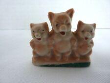 Vintage Collectable Porcelain Three 3 Little Pigs Figurine ~ Japan