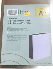 Isinlive 1 True Hepa Filter W/4 Carbon Pre-Filters #A 115115 For Winix