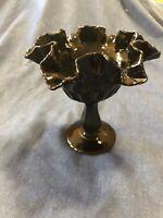Vintage Black Art Glass (Fenton) Compote (Mid Century)