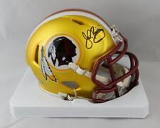 John Riggins Autographed Washington Redskins BLAZE Mini Helmet- JSA W Auth *Blac
