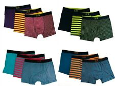 3 Pack Men Stripe Boxer Shorts Pants Briefs Underwear Boxers Sports S M L XL 2XL