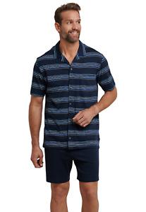 Schlafanzug kurz 100% CO Gr 48-64 SCHIESSER Herren Pyjama kurz S-6XL Knopfleiste