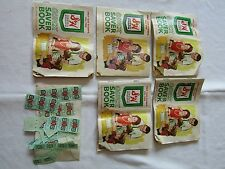 Lot of 5 S & H Green Stamps Quick Saver Books Sperry & Hutchinson Company 1960's