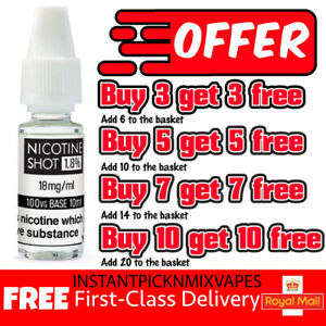 Nicotine Shots 10ml 18mg/ml 88 Vape Juice E liquid Nic drops Nic Shots 100%VG