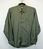 Arrow Long Sleeve Men's Large Button Up Shirt Dark Green