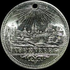 NÜRNBERG / BAYERN: Tragbare Souvenir-Medaille. STADTANSICHT VON NÜRNBERG.