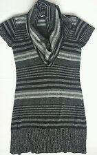 Women's New Look jersey dress-tunic-jumper black silver color size  UK M BNWOT