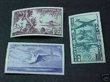 Martinique Scott #C10-12 Mint Lh Imperf Airmails