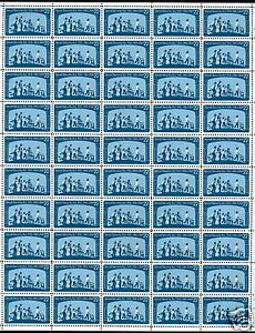 US 2153 Social Security sheet of 50 MNH POF P# A11 lower right.  Perf fold
