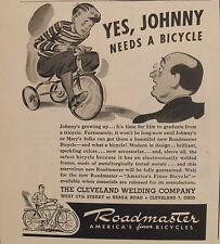 1945 WWII Roadmaster Bicycle~Bike Memorabilia Promo Print Trade Art AD