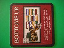 ROCK BOTTOM Beer Bar Coaster ~ ROCK TOBER FEST ~ Fight Hunger ~ Win a BMW Beemer