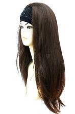 3/4 Wig Half Wigs Beautiful 2 Tone Dark Brown Auburn Mix. Premium Vogue Wigs UK