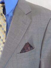 BROOKS BROTHERS Mens 44R/44 R SUPER 120s WOOL Gray WINDOWPANE Suit Jacket USA