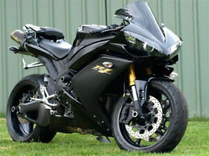 UK Injection Matte Black Fairing ABS Fit for Yamaha YZF R1 2007-08 Plastic n003
