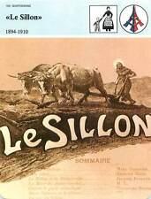 FICHE CARD Le Sillon Revue Catholique Pape Pie X 1894-1910 France 90s