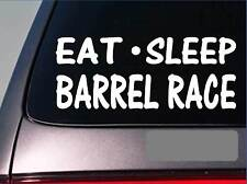 "Eat Sleep Barrel Race Sticker *G784* 8"" vinyl rodeo quarter horse horses boots"