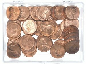 Choice Uncirculated Roll 1955-D Lincoln Wheat Cent - BU Unc Lot Collection *517