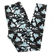 NWT Buttery SOFT Gorgeous Black Floral Leggings Tall & Curvy XL Plus Flowers TC