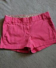 J Crew Chino Broken-In Shorts Hot Pink 100% Cotton Sz 8 Ladies