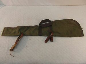 Vintage Half Zipper Firearm Soft Case Carrying Handles / Leather Straps 33668