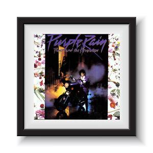 "Prince - Purple Rain   12"" Album Cover - Framed 16"" x 16"""
