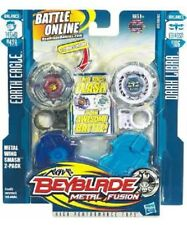 HASBRO BEYBLADE METAL FUSION EARTH EAGLE 145WD BB47A + DARK LIBRA ED145SD B106