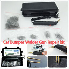 Led Hot Stapler Plastic Repair Kit Car Bumper Welder Gun With 500 Hot Staples