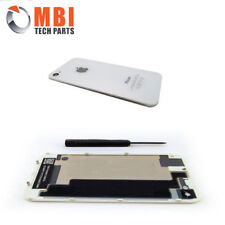For iPhone 4 4G Back Rear Glass Battery Cover Plate Replacement White A1332