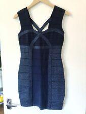 Forever 21 Dark Blue Navy Shimmer Sparkle Bodycon Body Con Dress Size L BNWT