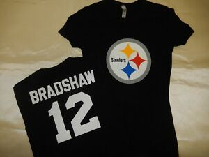"""0925 Womens Pittsburgh Steelers TERRY BRADSHAW """"Eligible Receiver"""" Jersey Shirt"""