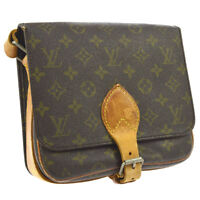 AUTHENTIC LOUIS VUITTON CARTOUCHIERE MM CROSS BODY SHOULDER BAG MONOGRAM A42960