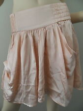 DECJUBA COLLECTION antique peach 100% silk mini skirt size 8 BNWT
