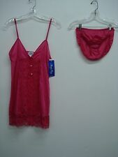 USA Made Nancy King Lingerie Baby Doll w/ Bikini Sleepwear Small Ruby #698Q