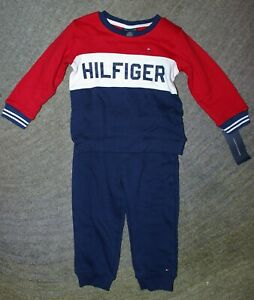 Tommy Hilfiger Baby Boys 2 Piece Sweatsuit Outfit - Size 24 Months - NWT