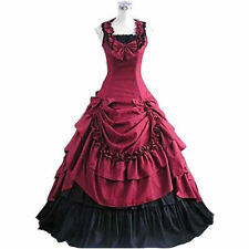Victorian Lolita Prom Dress Southern Belle Ball Gown Reenactment Theater Costume