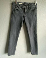 AG Adriano Goldschmied The Legging Ankle Super Skinny Jeans Black Gray Crop 28