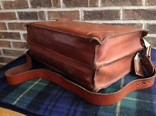 VINTAGE 1970's DOUBLE GUSSET SADDLE BASEBALL GLOVE LEATHER BRIEFCASE BAG R$1095