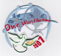 2007 World Scout Jamboree SINGAPORE IST SCOUTS ONE WORLD ONE PROMISE PATCH BIRD