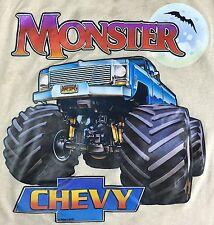 True Vintage 1984 Unbranded Chevy Chevrolet Monster Truck Ringer Tank Top XL