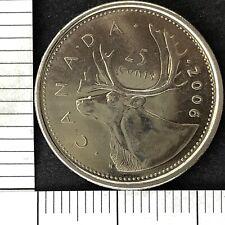Canada 25 Twenty Five Cents 2006 Elizabeth II Foreign Coin.